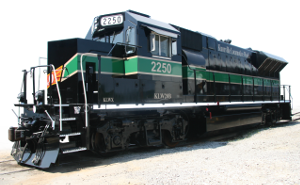 Rebuilder KLW Knoxville Locomotive works locomotive in KLW colours Green and Black unit #2250