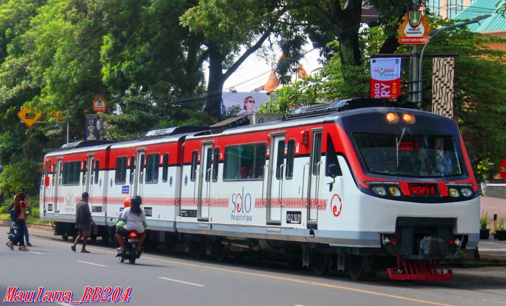 INKA railbus streetcar in Indonesia