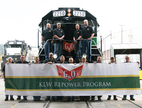 "GP38 from KLW #2250 at christening party ""KLW Reposer Program"""