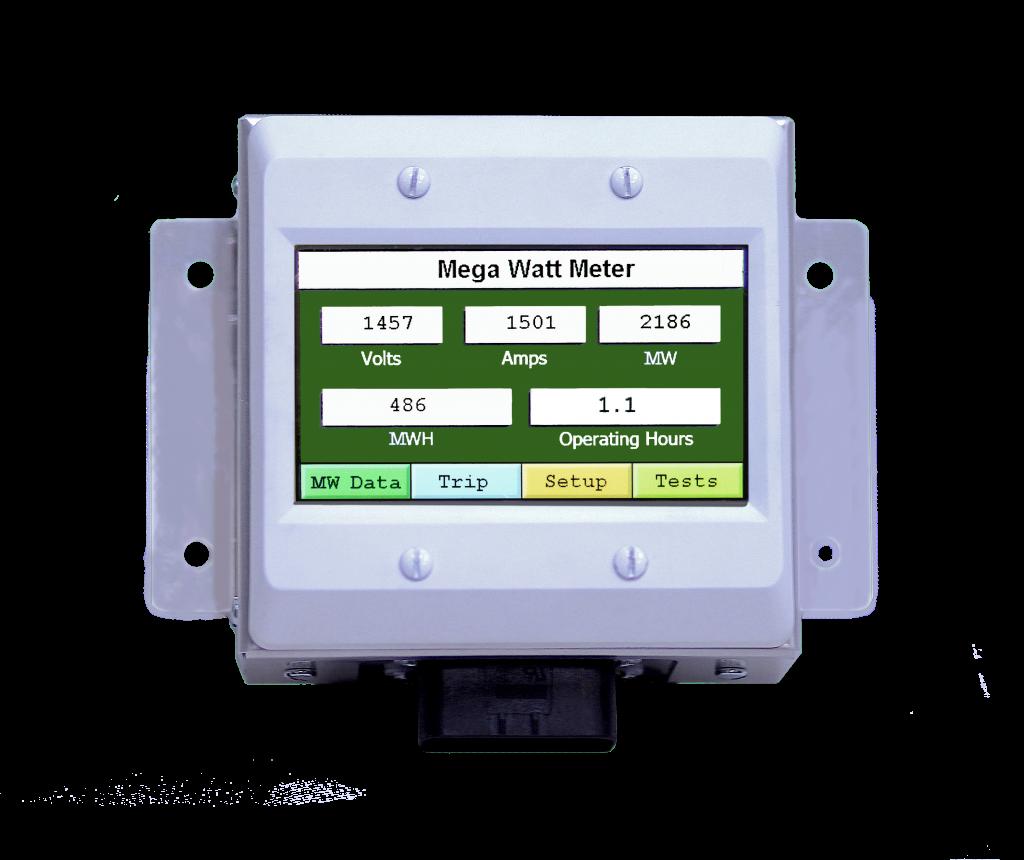 mega watt meter, for rail, marine, green energy preserving tool for accurate data