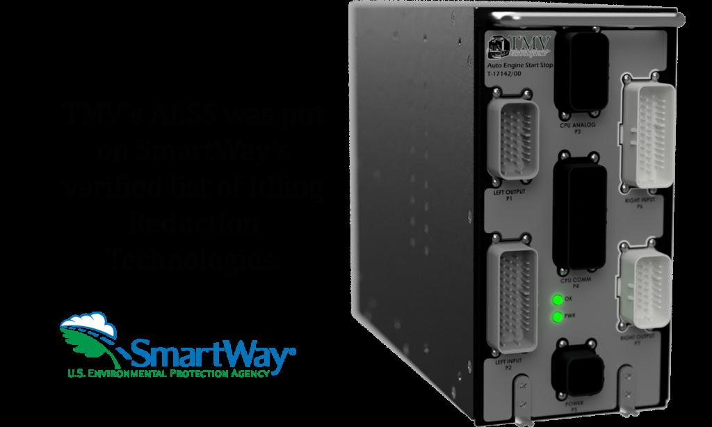 "TMV AutoStart module, reads ""TMV's AESS was put on SmartWay's verified list of Idling Reduction Technologies"""